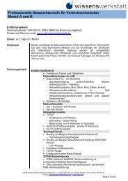 Professionelle Netzwerktechnik für Vertriebsmitarbeiter Modul A und B