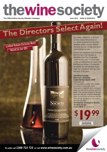 To order call 1300 723 723 or visit www.winesociety.com ... - Realview