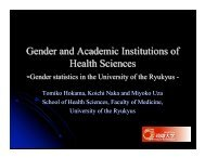 Gender and Academic Institutions of Health Sciences