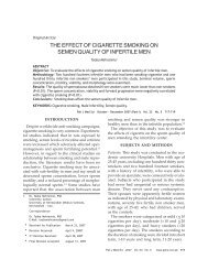 THE EFFECT OF CIGARETTE SMOKING ON SEMEN QUALITY OF ...
