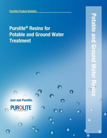 Revised Potable and Ground Water Brochure - Purolite.com