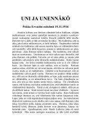 1916 11 19 Uni ja unennäkö - Pekka Ervast