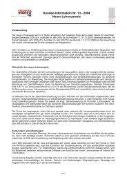 Kunden-Information Nr. 13 - 2004 Neuer Lohnausweis