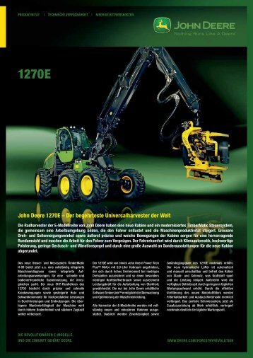 John Deere 1270E – Der begehrteste Universalharvester der Welt