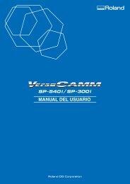 Roland - SP-540i 300i INS SP - Support