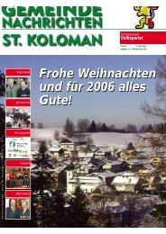 Gemeindezeitung Winter 2005 (0 bytes) - St. Koloman