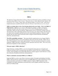 Information Flyer from Emory Johns Creek on MRSA and Straph