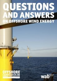 ON OFFSHORE WIND ENERGy - wab.biz
