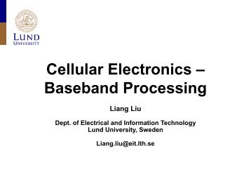 Cellular Electronics - Baseband Processing - Lund Circuit Design ...