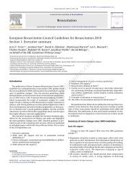 European Resuscitation Council Guidelines for Resuscitation ... - CPR
