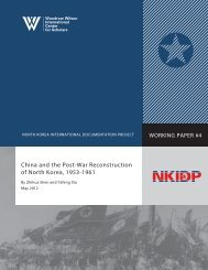 China and the Post-War Reconstruction of North Korea, 1953-1961