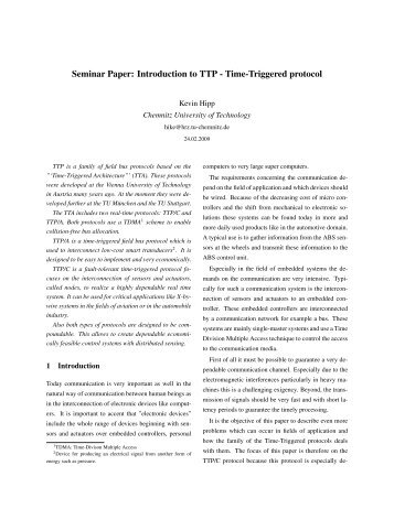 Introduction to TTP - Time-Triggered protocol - TU Chemnitz ...