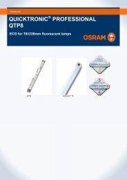 QUICKTRONIC PROFESSIONAL QTP8 - Osram