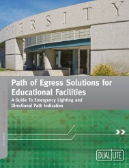 Path of Egress Solutions for Educational Facilities - Dual-Lite