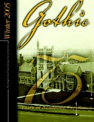 Fall 2004 Gothic LO - New Jersey City University