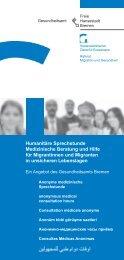 Information Humanitäre Sprechstunde - Gesundheitsamt Bremen