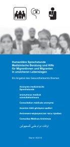 Information Humanitäre Sprechstunde - Gesundheitsamt Bremen - Seite 6