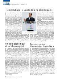 Éric de Labarre - ECA - Enseignement catholique actualites