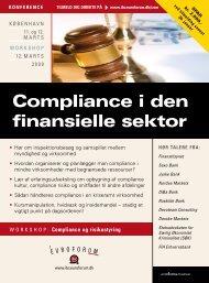 Compliance i den finansielle sektor - IBC Euroforum