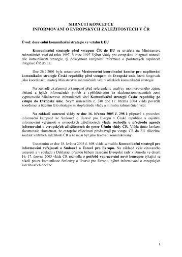 Koncepci informování o evropských záležitostech - Euroskop.cz