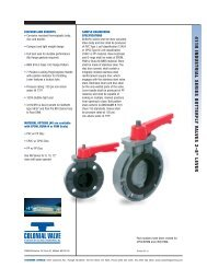 411N Series Butterfly Valve - Colonial Engineering