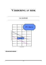 Värdering av risk