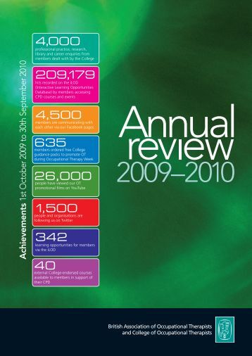 Download the Annual Review 2009-2010 - College of Occupational ...