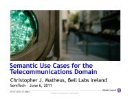 Semantic Use Cases for the Telecommunications ... - SemTech 2011
