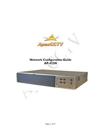 Networking Guide - CCTV Cameras
