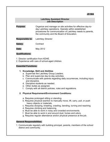 Job Description Medical Records Assistant - Laico