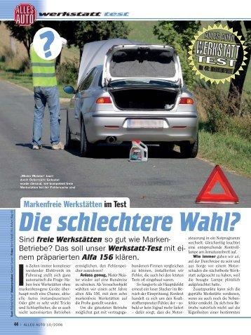 """Werkstatt Test in """"Alles Auto"""""""
