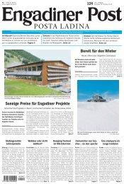 Engadiner Post Nr. 124 vom 20. Oktober 2012