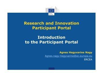 Participant Portal services