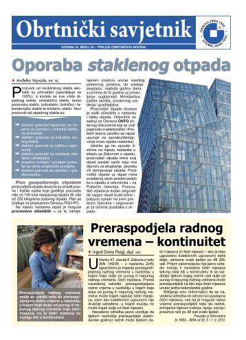 Obrtnički savjetnik • O - Hrvatska obrtnička komora