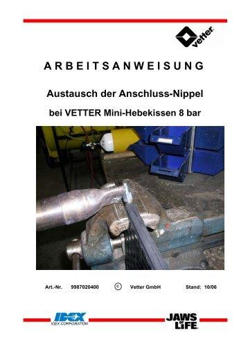 ARBEITSANWEISUNG Austausch der Anschluss-Nippel bei ... - Vetter