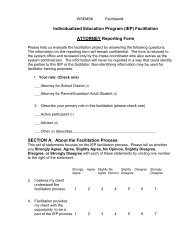 Individualized Education Program (IEP) Facilitation ... - WSEMS