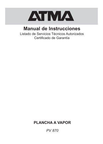 Manual de Instrucciones - Atma