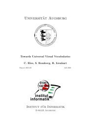 Informatik.Uni-Augsburg.DE - Multimedia Computing and Computer ...