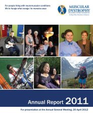 Annual Report 2011 - Muscular Dystrophy Association of New Zealand