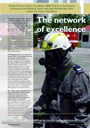 The network of excellence The network of excellence - CBRN CoE