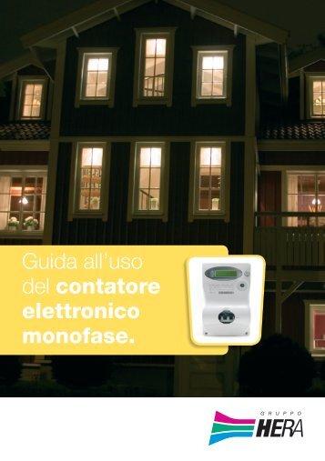 Guida all'uso del contatore elettronico monofase. - Il Gruppo Hera