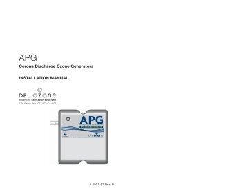 Corona Discharge Ozone Generators INSTALLATION ... - DEL Ozone