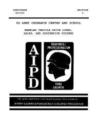 US ARMY ORDNANCE CENTER AND SCHOOL - Modern Prepper