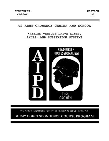 US ARMY ORDNANCE CENTER AND SCHOOL - Modern Prepper