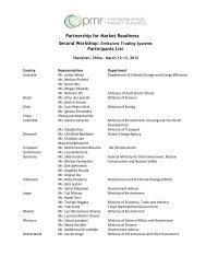 Partnership for Market Readiness Participants List