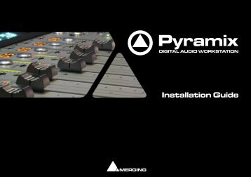 Pyramix 6.1 Installation Guide - Merging Technologies