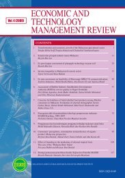 ECONOMIC AND TECHNOLOGY MANAGEMENT REVIEW