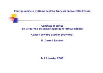 Pour un meilleur système scolaire français en Nouvelle-Écosse ...