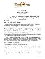 LA FRANCE - Voyages à rabais