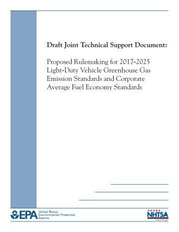 Draft Joint Technical Support Document - US Environmental ...